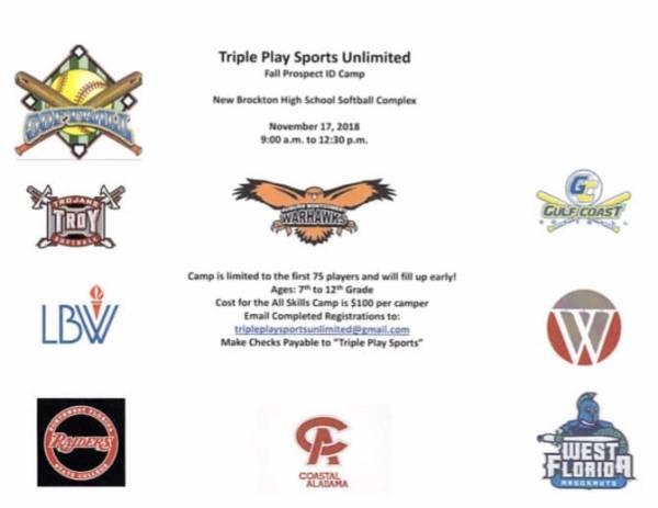 Softball Prospect ID camp this Saturday!