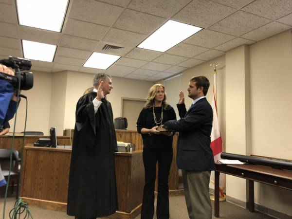 Weston Spivey and Bart Wilks Sworn In As New Geneva County Commissioners