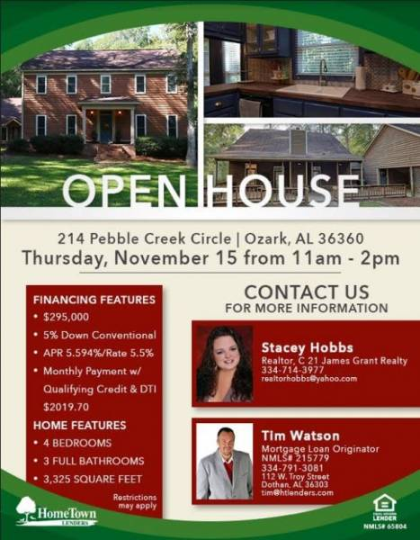 Hometown Lenders and James Grant Open House
