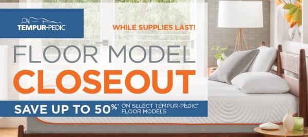 Tempur-Pedic Clearance Sale