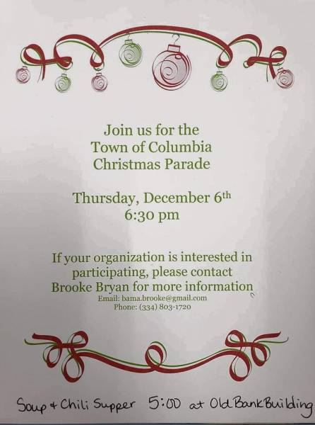 Town of Columbia to Host Christmas Parade Tonight