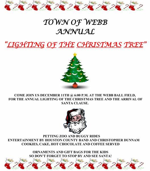 Update on Webb's Lighting of the Tree