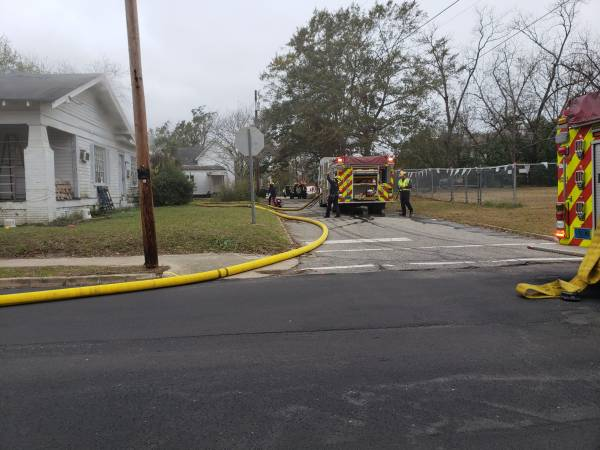 11:42 AM... Structure Fire at South Appletree and East Savannah