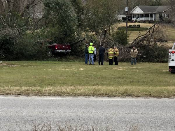 12:39 PM    Kinsey Motor Vehicle Accident - Single Vehicle - Truck In The Wood Line