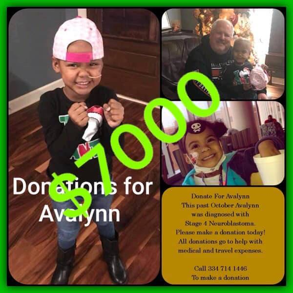 Avalynn James....3 Years Old With Stage 4 Cancer Gets Help From Many Of You