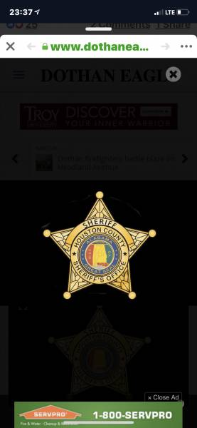 From Houston County Sheriff Donald  Valenza and Staff