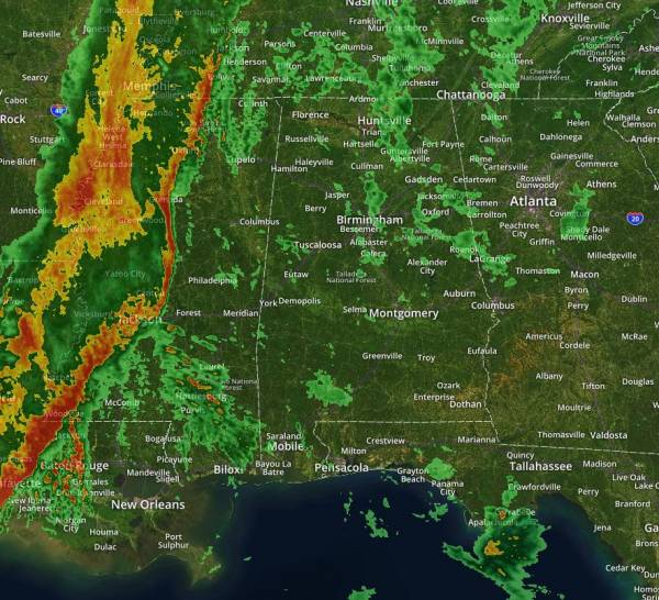 Severe Thunderstorms, Heavy Rain and Flooding Threaten the South Thursday and Friday