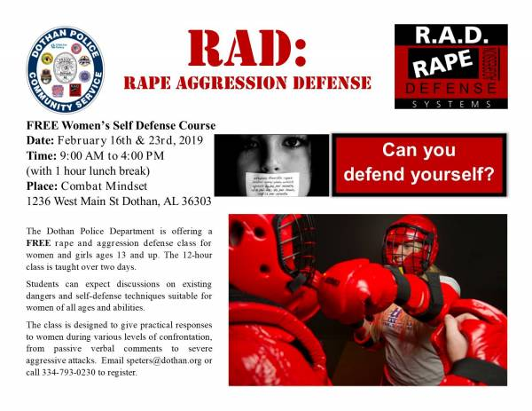 Upcoming RAD Class in February