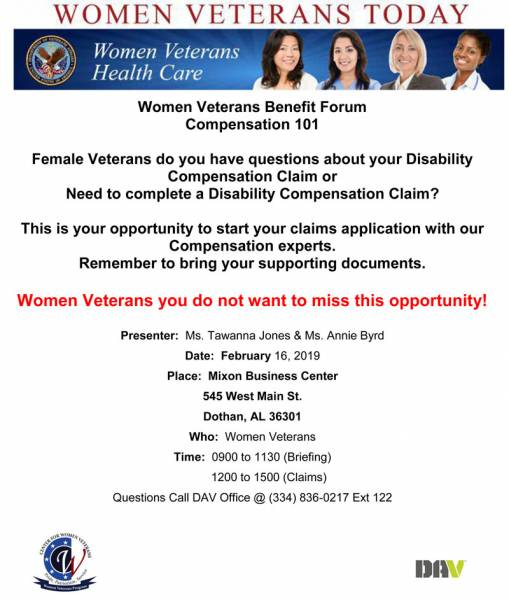 Dothan-Women Veterans Benefits Forum