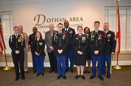Chamber Committee Presents JROTC Cadet Leadership Awards