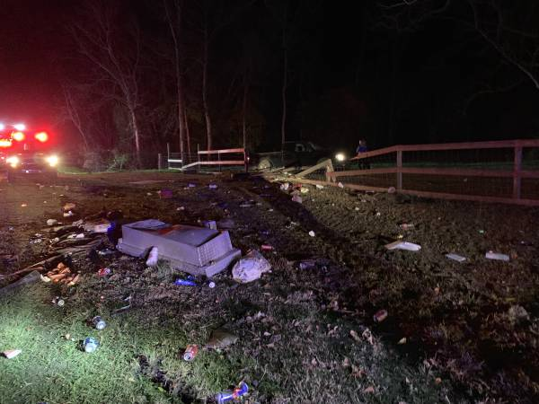 UPDATED SUNDAY @ 8:09 AM. FATALITY ACCIDENT 10:06 PM     Single Motor Vehicle Accident -