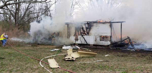 9:25 AM... Structure Fire on Brunner Road in Taylor
