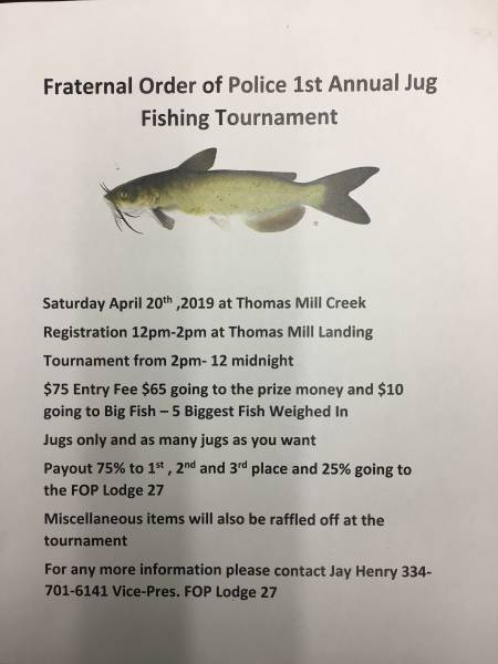 Fraternal Order of Police 1st Anaul Fishing Tournament