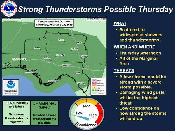 The Threat for Strong Storm Possible Thurday