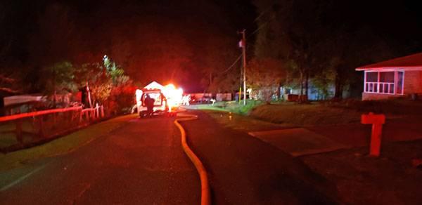 4:28 AM... Structure Fire on Carmen Lane