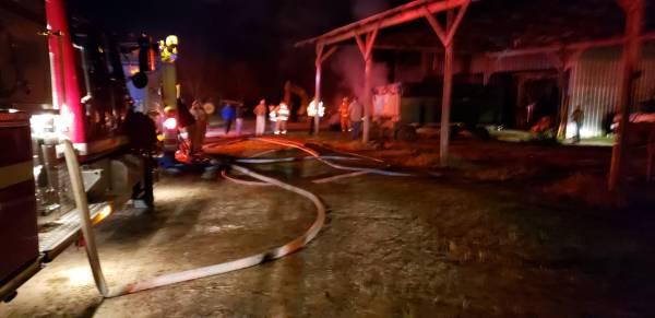 9:32 PM.   Structure Fire - Barn - In Rehobeth