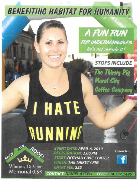 5K fun run in Downtown Dothan to benefit Wiregrass Habitat for Humanity