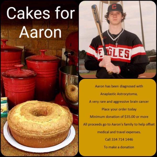 TOGETHER WE CAN HELP THIS FAMILY ..AARON WAS DIAGNOSED WITH A VERY AGGRESSIVE BRAIN TUMOR