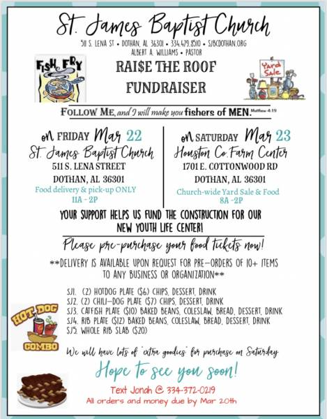 St James Baptist Church to Host Raise the Roof Fundraiser