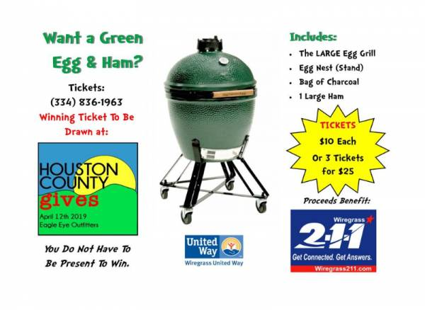 8th Annual LARGE Green Egg & Ham Fundraiser for Wiregrass 2-1-1