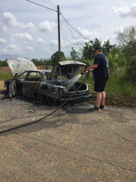 Vehicle Fire at South Rocky Creek and Leo Pynes