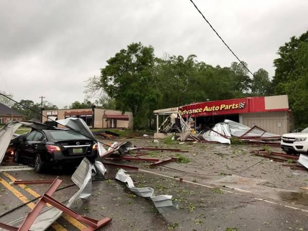 Apparent tornado damage reports coming in from Troy