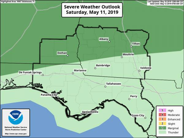 Marginal Risk for Severe Storms this weekend