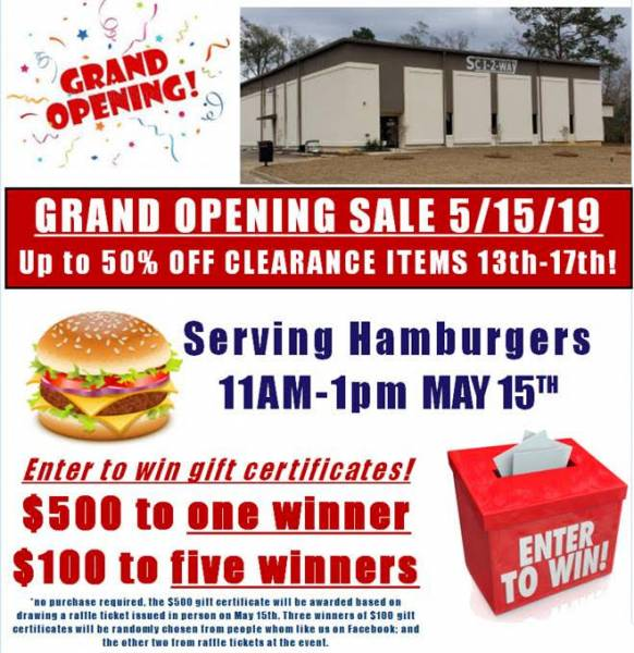 Sci2Way is having a Grand Opening at NEW Location! Huge sale