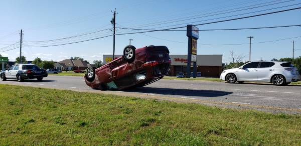 UPDATED at 4:46 PM    Overturned Motor Vehicle Accident On West Main and SHady Lane