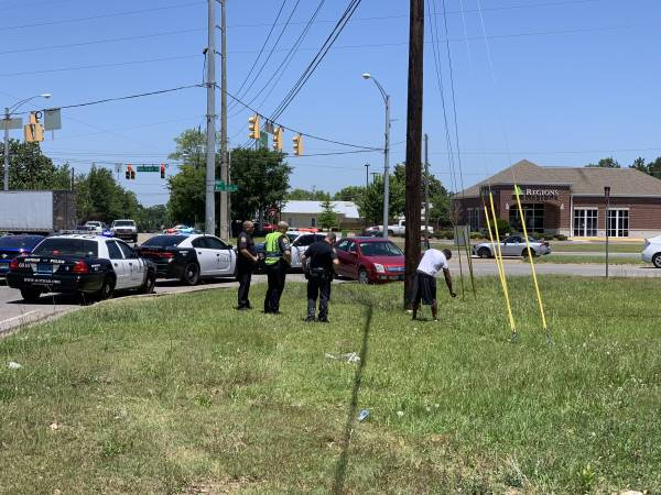 UPDATED WITH PICTURES.  12:27 PM    Motor Vehicle Accident SORTA Headland Avenue and Ross Clark Circle