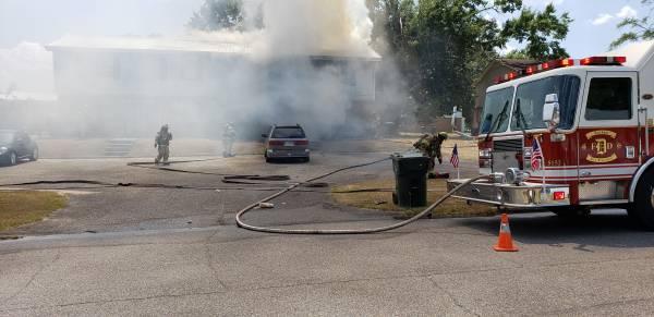 2:00 PM... Structure Fire 307 Mona Drive