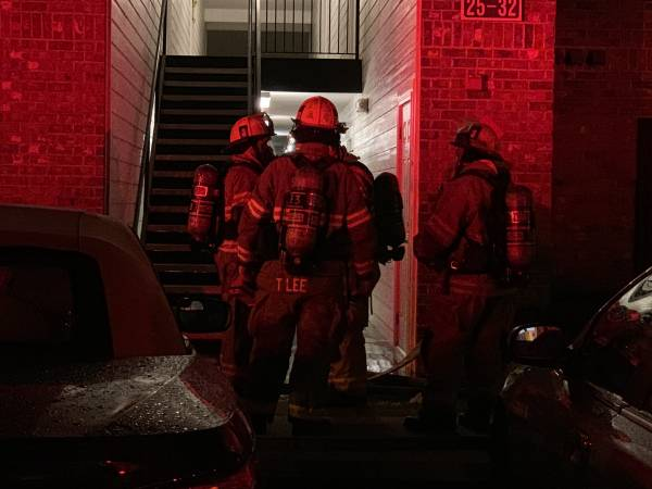 11:39 PM.  Structure Fire Biltore Apartments Forner Streets