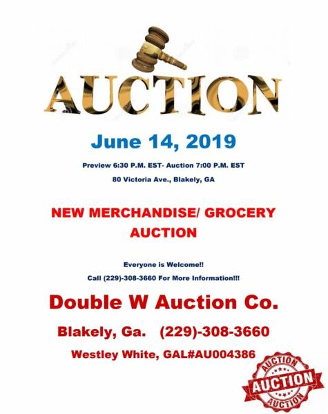 Auction Set for June 14th in Blakely