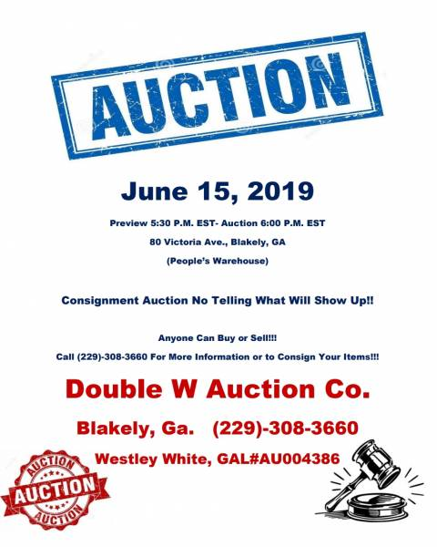 Auction Set for June 15th in Blakely
