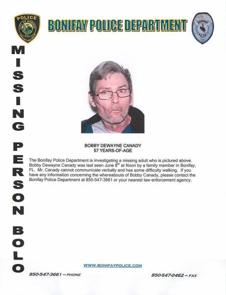 Missing Person in Bonifay