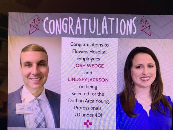 Flowers Hospital Congratulates Dothan Area Young Professionals