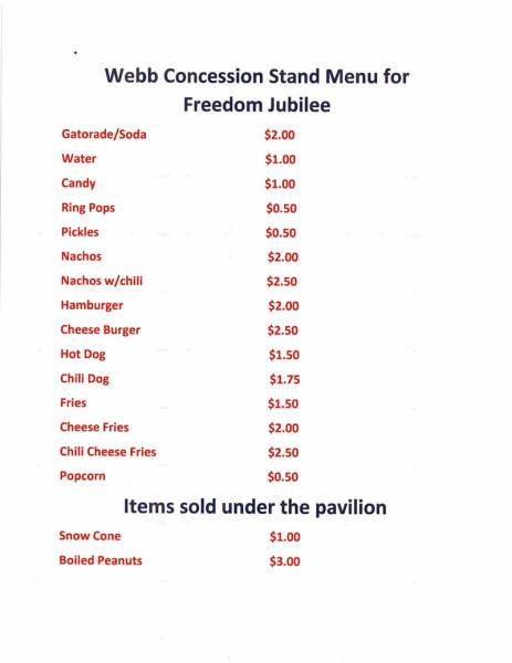 Webb Freedom Jubilee set for July 6th