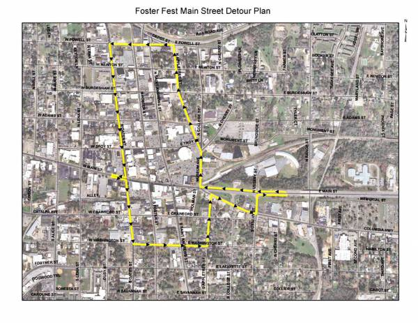 Traffic Alert- Roads Closed for Foster Fest Tomorrow Night