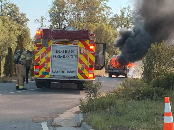 8:20 AM... Vehicle Fire in the 2400 Block of East Main