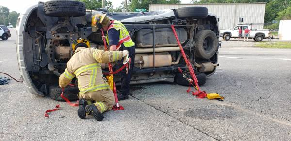 UPDATED @ 7:18 AM.  Overturned Motor Vehicle Accident Cottonwood Road At Forrester Road