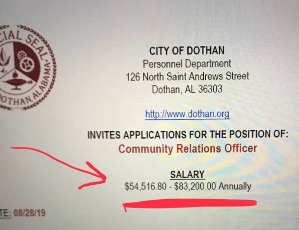CAUTION - Nothing In This Article Is My Opinion And Simple Facts - Majority of Dothan Commission DOES NOT APPROVE Of Police Salary Increase