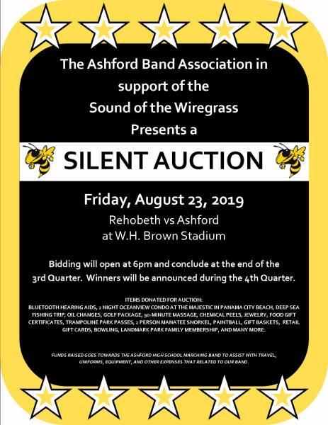 Ashford Band Association to host a Silent Auction