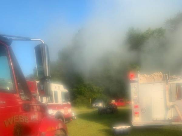 6:26 AM... Structure Fire at 693 Gilley Mill Road in Webb