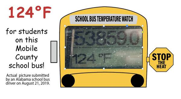 How hot are Alabama's school buses? Drivers show us