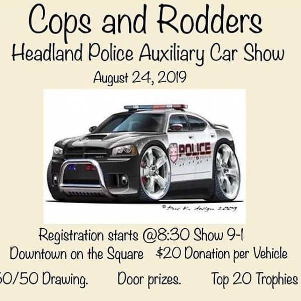 Headland Police Car Show Going On now