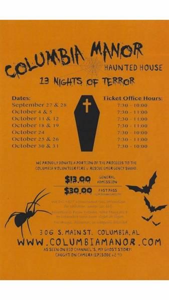 Columbia Manor Haunted House 13 Night of Terror