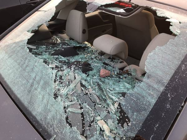 Rock Throwing Vandal Causes Estimated $30,000 in Damages to Parked Cars