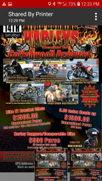 All Out Bire Race this Weekend at Cottonwood Drag Way