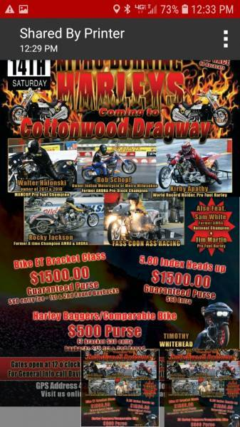 All Out Bike Race this Weekend at Cottonwood Drag Way