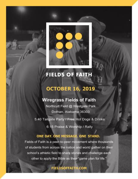Fields of Faith Event In October